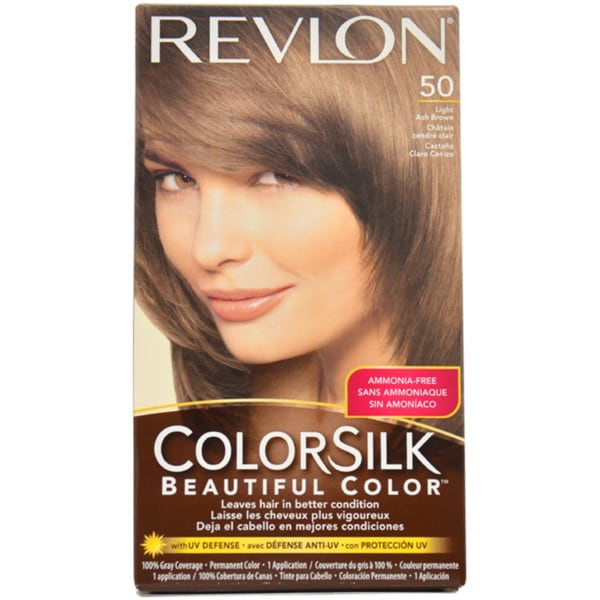 Revlon ColorSilk Beautiful Color #50 Light Ash Brown Hair Color - Free ...