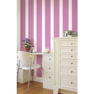 WallPops Plush Stripes Soft Violet Wall Decals (Set of 4)