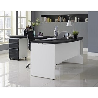 Ameriwood Home Pursuit White Small Office Executive Set
