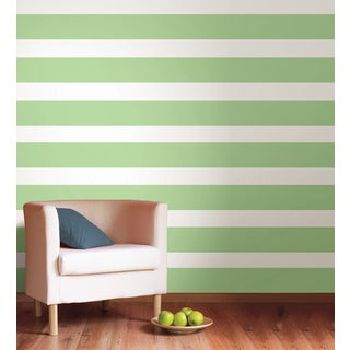 Wall Pops Oh Pear Green Stripe Wall Decal Sticker (Set of 4)