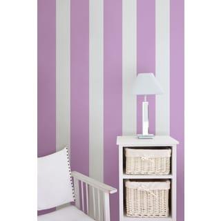 Wall Pops Purple Perk Stripe Wall Decal Stickers (Set of 4)