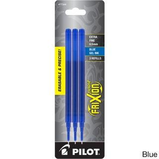 Pilot Frixion Point Gel Ink Pen Refills (Pack of 3) (Option: Blue)