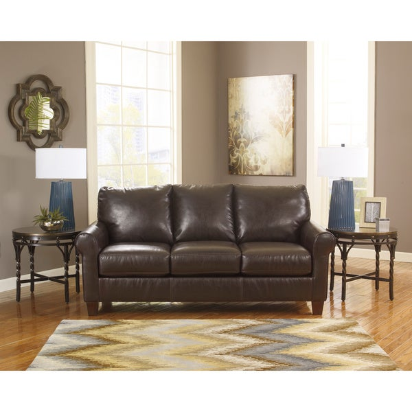 Shop Signature Design By Ashley Nastas Bark Durablend Sofa Free