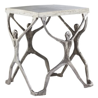 Silver Aluminum Man Figurine Table