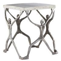 Silver Aluminum Man Figurine Table