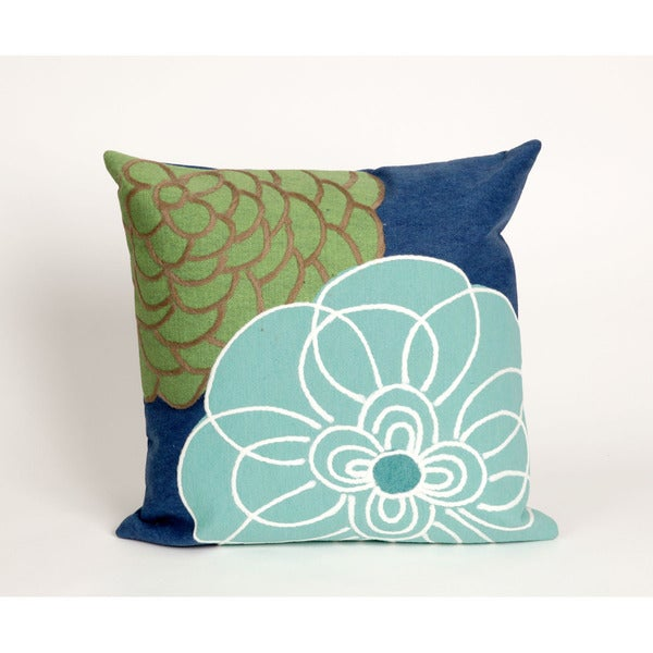 Shop Modern Flower Indoor Outdoor 20 Inch Throw Pillow