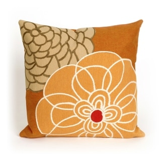 Liora Manne Modern Flower Indoor/Outdoor 20 inch Throw Pillow