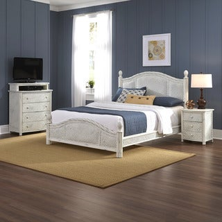 Home Styles Marco Island Bed, Night Stand, and Media Chest