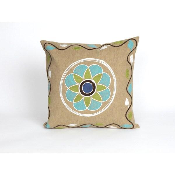 Crochet Indoor/Outdoor 20 inch Throw Pillow