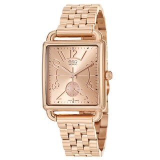 ESQ by Movado Women's 'Origin' Rose Goldplated Stainless Steel Swiss Quartz Watch