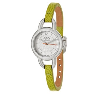 ESQ by Movado Women's 'Status' Stainless Steel Lime Green Strap Watch