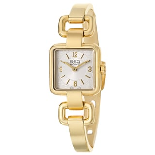 ESQ by Movado Women's 'Status' Yellow Goldplated Stainless Steel Swiss Quartz Watch