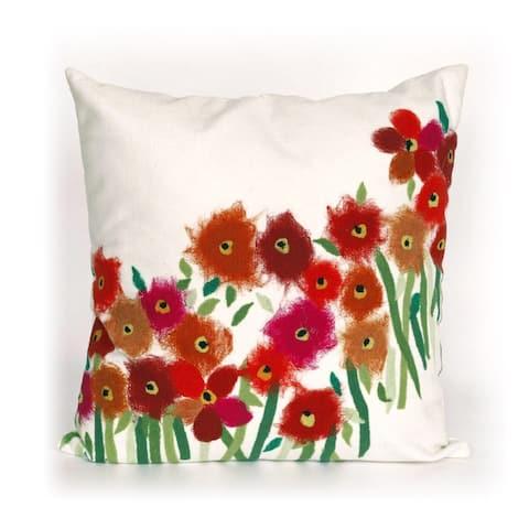 Liora Manne Flower Field Indoor/Outdoor 20 in Throw Pillow