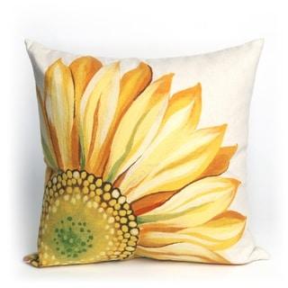 Liora Manne Sunflower Indoor/Outdoor 20 inch Throw Pillow