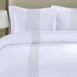 Superior Hannah Wrinkle Resistant 3-piece Duvet Cover Set