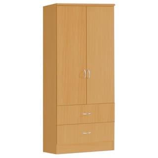 Hodedah 2-Door Armoire with 2-Drawers