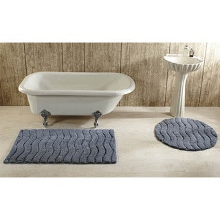 Indulgence Cut and Sculpted Cotton Tufted Bath Rug by Better Trends