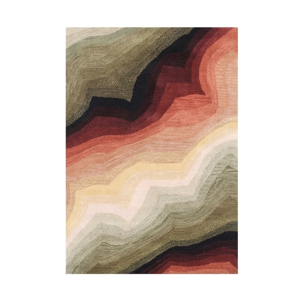 Alliyah Handmade Multi New Zealand Blend Wool Area Rug (8' x 10') - 8' x 10'