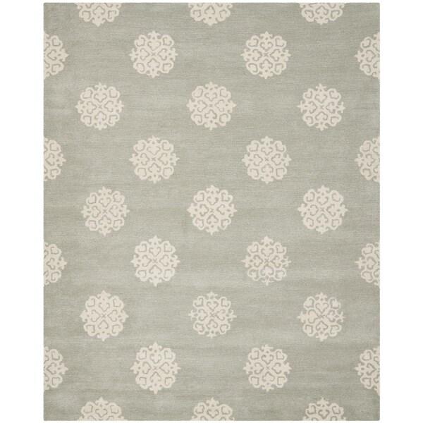 Safavieh Handmade Soho Grey/ Ivory Wool Rug - 9' x 12'