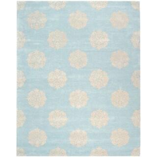 Safavieh Handmade Soho Turquoise/ Yellow Wool Rug (9' x 12')