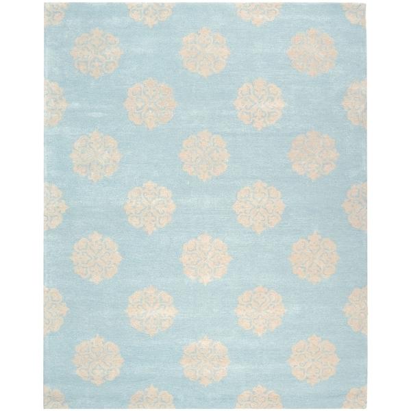 Safavieh Handmade Soho Turquoise/ Yellow Wool Rug - 9' x 12'