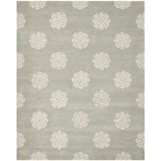 Safavieh Handmade Soho Grey/ Ivory Wool Rug (8' x 10')