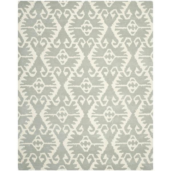 Safavieh Handmade Wyndham Grey/ Ivory Wool Rug - 10' x 14'
