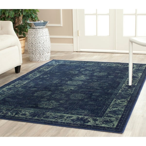 Safavieh Vintage Oriental Soft Anthracite Distressed Silky Viscose Rug - 11' x 15'