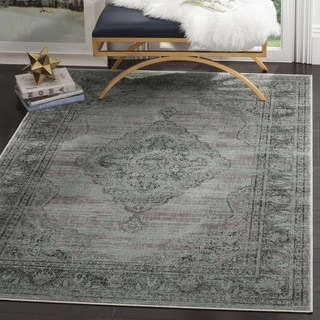 Safavieh Vintage Oriental Light Blue Distressed Silky Viscose Rug (10' x 14')