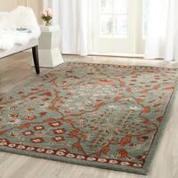 Safavieh Handmade Wyndham Blue/ Rust Wool Rug - 6' x 9'
