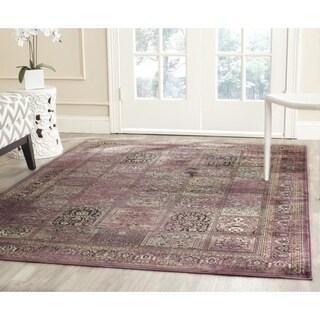 Safavieh Vintage Purple/ Fuchsia Distressed Panels Silky Viscose Rug (8'10 x 12'2)