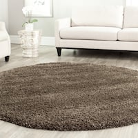 Safavieh California Cozy Plush Mushroom Shag Rug - 4' Round