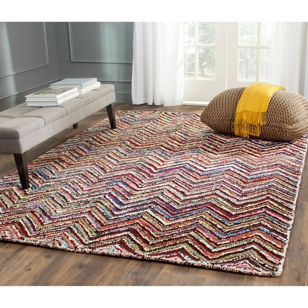 Safavieh Handmade Nantucket Abstract Chevron Multicolored Cotton Rug - multi - 9' x 12'