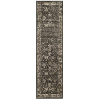 Safavieh Antiqued Vintage Soft Anthracite Viscose Runner (2'2 x 12')