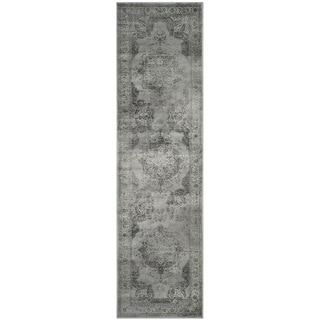 Safavieh Vintage Grey/ Multi Distressed Silky Viscose Rug (2'2 x 12')