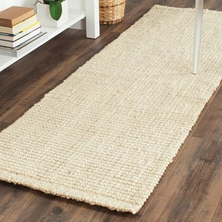 Safavieh Casual Natural Fiber Hand-loomed Ivory Jute Rug (2'3 x 15')