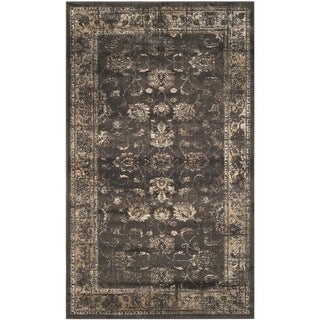 Safavieh Antiqued Vintage Soft Anthracite Viscose Rug (2' x 3')