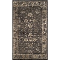 Safavieh Vintage Oriental Soft Anthracite Distressed Silky Viscose Rug - 2' X 3'