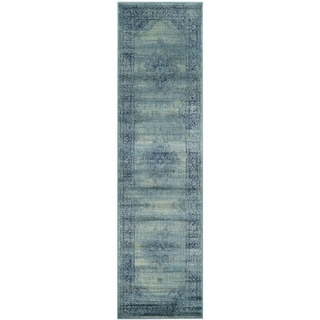 Safavieh Vintage Oriental Turquoise Distressed Silky Viscose Runner (2'2 x 12')