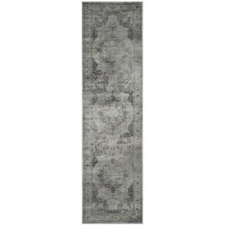 Safavieh Vintage Grey/ Multi Distressed Silky Viscose Rug (2'2 x 6')