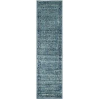 Safavieh Antiqued Vintage Turquoise Viscose Runner (2'2 x 12')