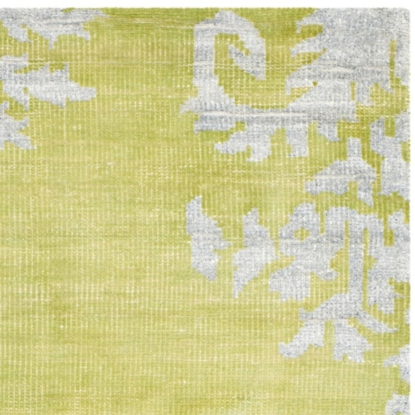 Safavieh Hand Knotted Stone Wash Chartreuse Wool/ Cotton Rug (5u0027 X 8u0027)    Free Shipping Today   Overstock.com   16107026
