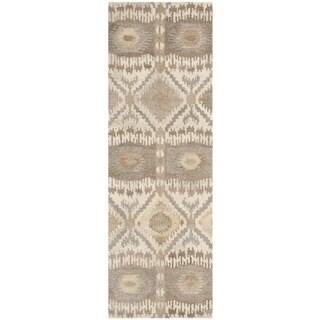 Safavieh Handmade Wyndham Natural/ Multi Wool Rug (2'3 x 11')