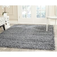 Safavieh New York Shag Blue/ Grey Rug - 8' x 10'