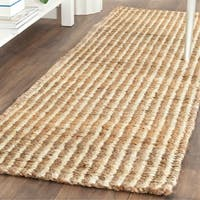 "Safavieh Casual Natural Fiber Hand-Woven Natural / Ivory Jute Rug - 2'3"" x 11'"