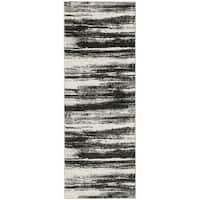 Safavieh Retro Modern Abstract Dark Grey/ Light Grey Distressed Rug - 2'3 x 11'