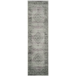 Safavieh Vintage Oriental Light Blue Distressed Silky Viscose Runner (2'2 x 10')