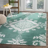 Safavieh Hand-knotted Stone Wash Emerald Wool/ Cotton Rug - 4' x 6'