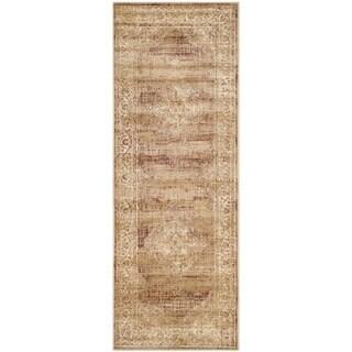 Safavieh Vintage Oriental Taupe Distressed Silky Viscose Runner (2'2 x 10')