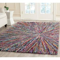 Safavieh Handmade Nantucket Modern Abstract Multicolored Cotton Rug - 8' x 10'